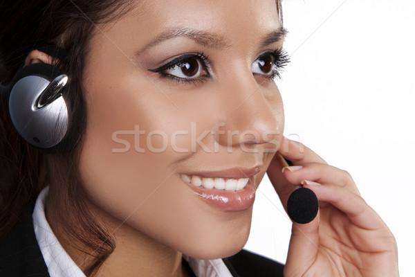Cute primo piano bella giovani bruna donna Foto d'archivio © stryjek