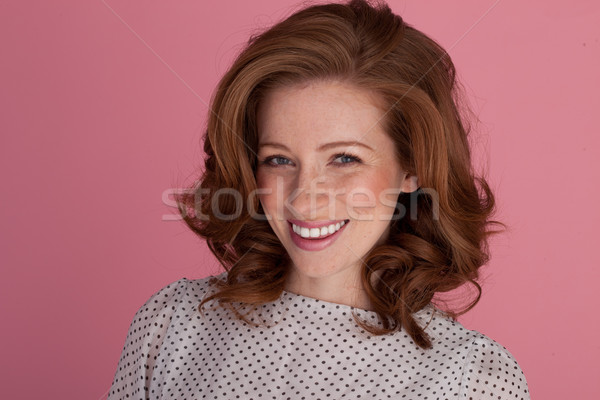 Lovely Smile On Beautiful Woman Stock photo © stryjek