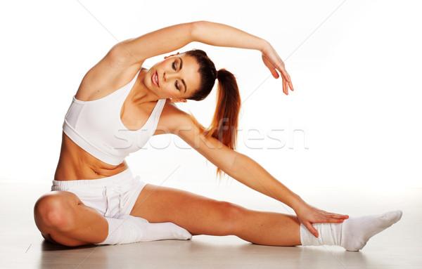 Beautiful woman working out Stock photo © stryjek