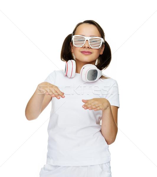 бедро затвор Солнцезащитные очки волос Сток-фото © stryjek