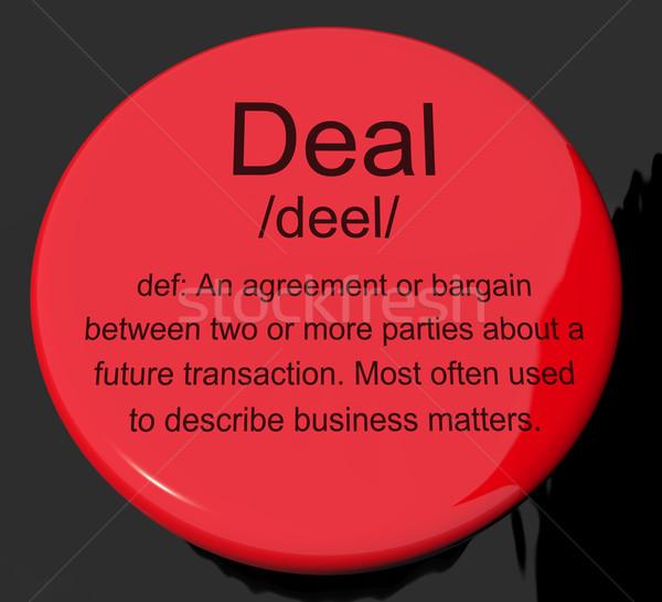 üzlet meghatározás gomb mutat megállapodás alkalmi vétel Stock fotó © stuartmiles