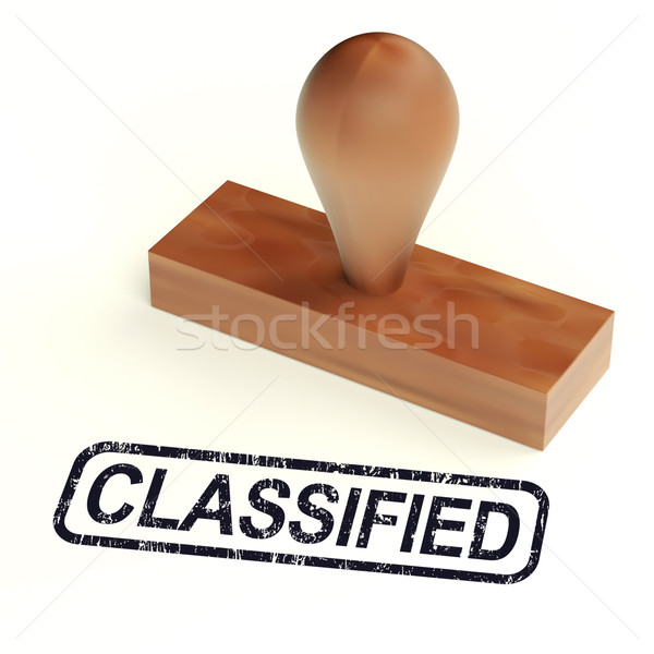 Classified Rubber Stamp Shows Private Correspondence Stock photo © stuartmiles