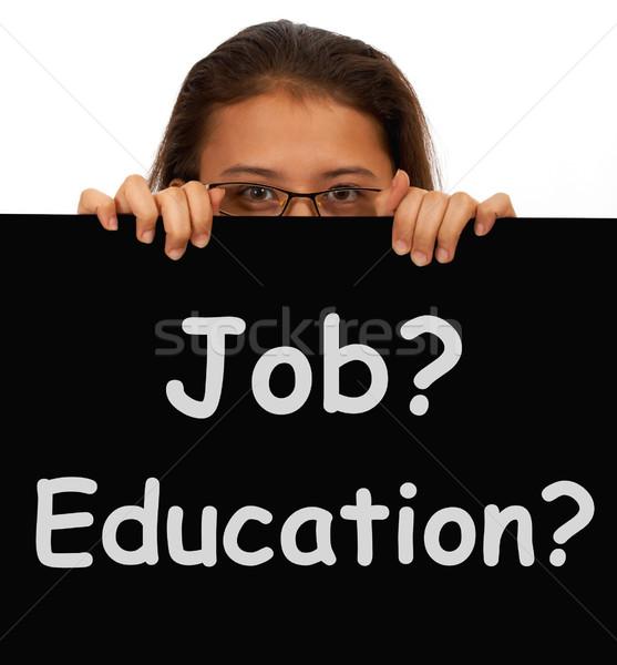 работу образование знак выбора рабочих изучения Сток-фото © stuartmiles