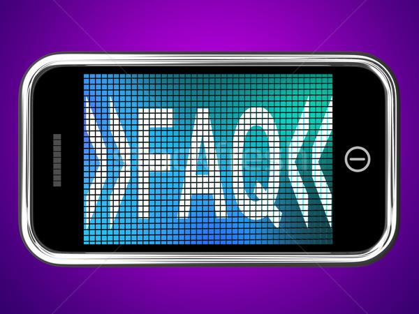 Faq Message On Mobile Phone For Help Stock photo © stuartmiles