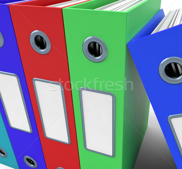Row Of Colorful Files To Get The Office Organised Stock photo © stuartmiles