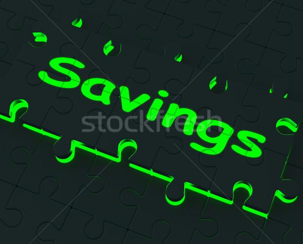 貯蓄 パズル 金銭的な ストックフォト © stuartmiles
