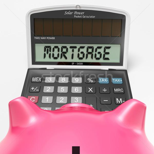 Hypothèque simulateur acheter immobilier maison Photo stock © stuartmiles