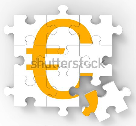 Euro Symbol On Monitors Showing Europe Profits Stock photo © stuartmiles