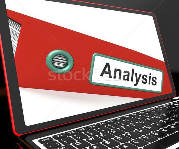 Analysis File On Laptop Showing Analyzed Data Stock photo © stuartmiles