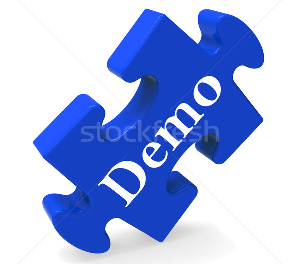 Demo Puzzle Shows Product Demonstration Trial Or Version Stock photo © stuartmiles