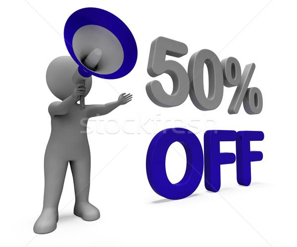 Cinqüenta por cento desconto preço Foto stock © stuartmiles