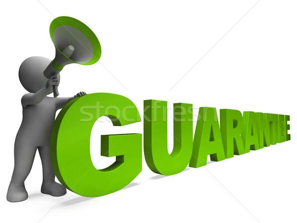 Garancia karakter garantált mutat Stock fotó © stuartmiles