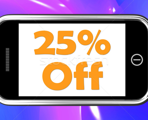 Vinte cinco por cento telefone venda desconto Foto stock © stuartmiles
