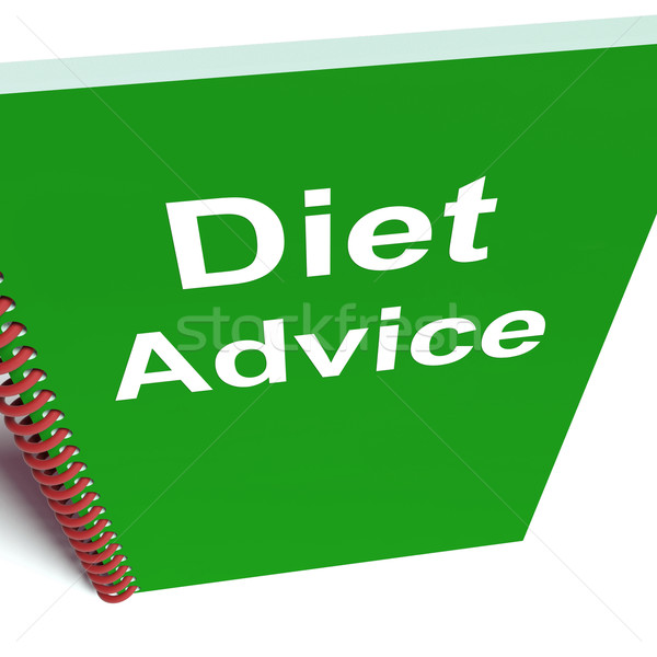 Diet Advice on Notebook Shows Healthy Diets Stock photo © stuartmiles