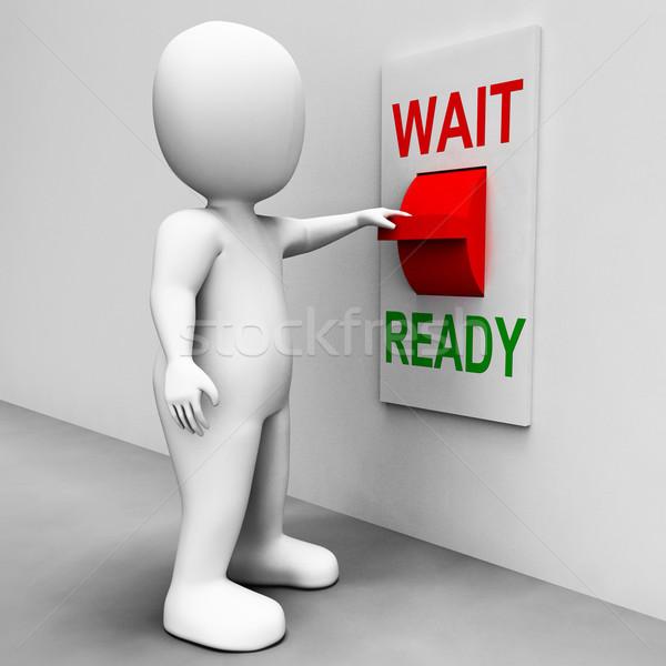 готовый переключатель подготовленный ждет смысл Сток-фото © stuartmiles