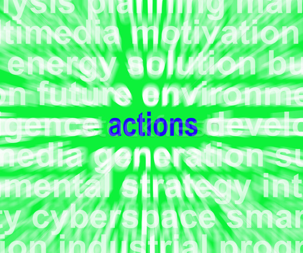 Actions Word Shows Behaviour Manner And Conduct Stock photo © stuartmiles