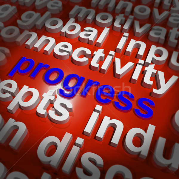 Progress Word Cloud Means Maturity Growth  And Improvement Stock photo © stuartmiles