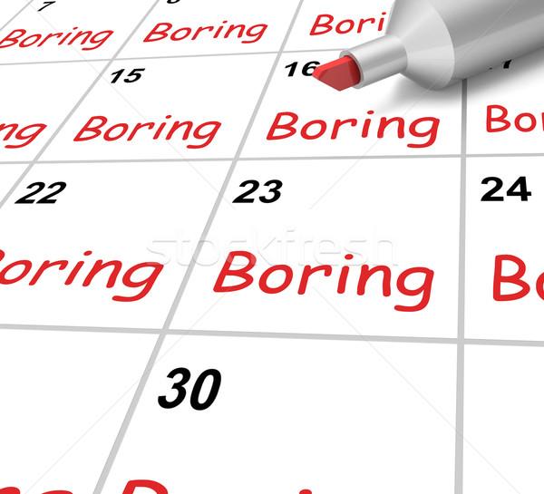 Chato calendário tédio significado Foto stock © stuartmiles