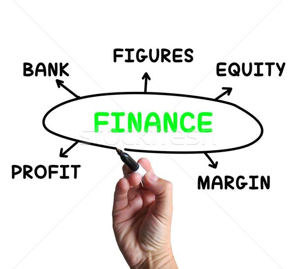 Финансы диаграмма капитал прибыль смысл бизнеса Сток-фото © stuartmiles