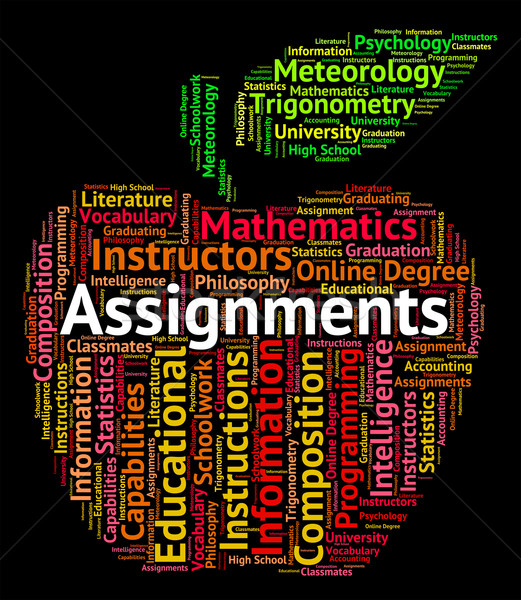 Assignments Word Means Text Undertaking And Exercises Stock photo © stuartmiles