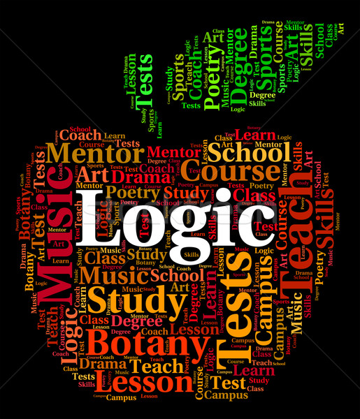 Logic Word Means Common Sense And Logical Stock photo © stuartmiles