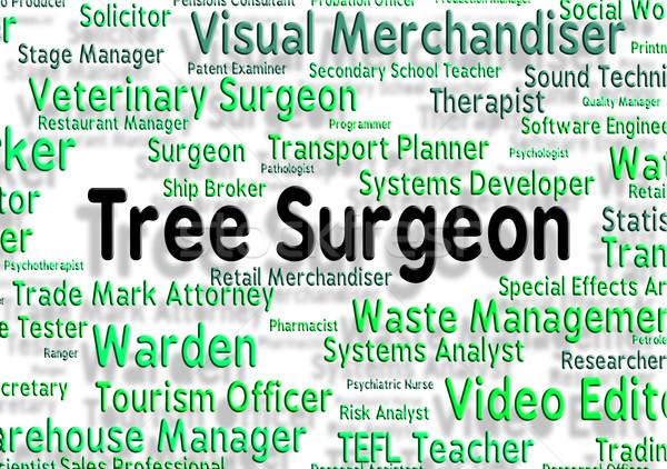 Stock fotó: Fa · sebész · általános · háziorvos · ág · állások