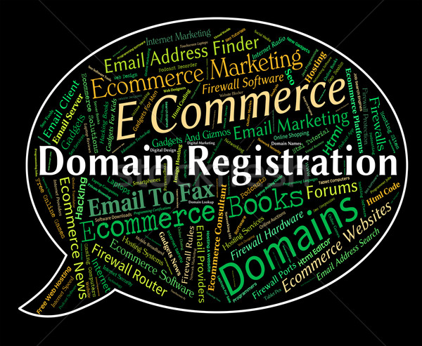 Domain Registration Shows Sign Up And Admission Stock photo © stuartmiles