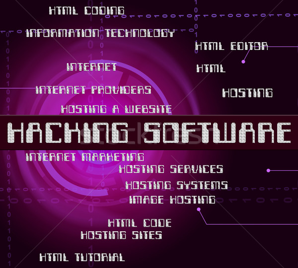 Hackers software programa rachar segurança Foto stock © stuartmiles