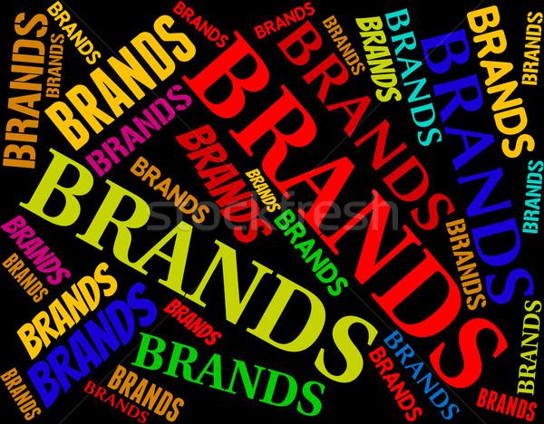 ストックフォト: 言葉 · ブランド設定 · 商標 · ラベル · 単語