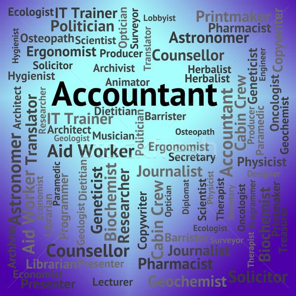 Accountant Job Indicates Balancing The Books And Accountants Stock photo © stuartmiles