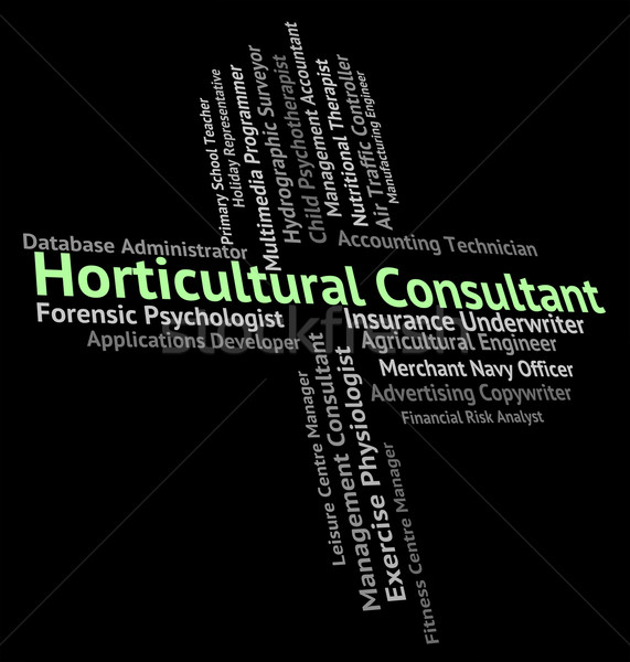 Horticultural Consultant Represents Word Farmed And Jobs Stock photo © stuartmiles