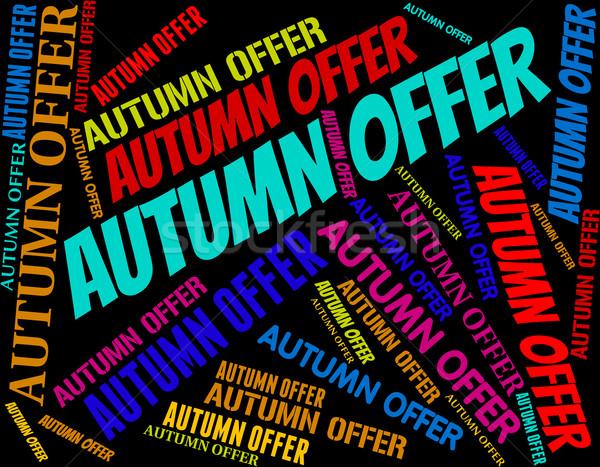 Outono oferecer texto barato barganha Foto stock © stuartmiles