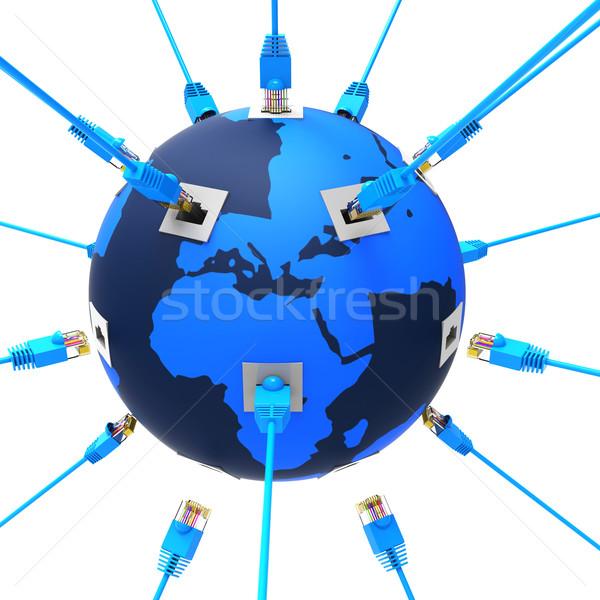 Worldwide Network Represents Web Site And Computing Stock photo © stuartmiles
