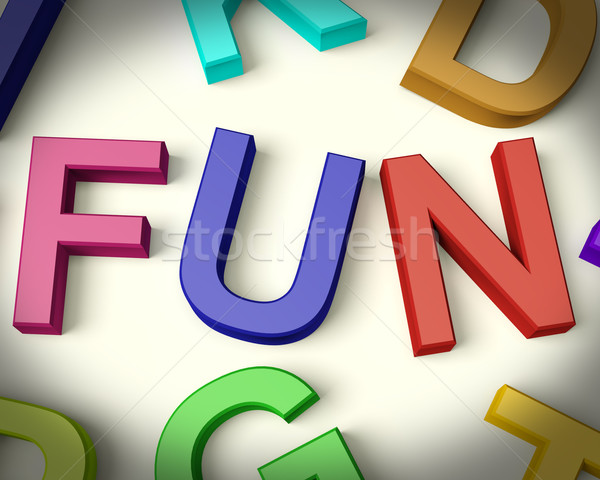 Fun Written In Plastic Kids Letters Stock photo © stuartmiles