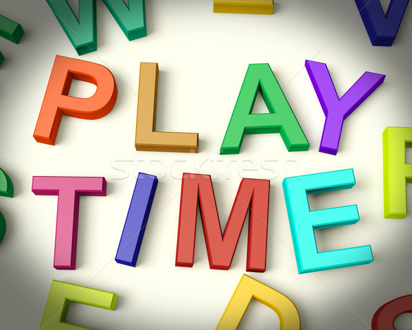 Play Time Written In Kids Letters Stock photo © stuartmiles