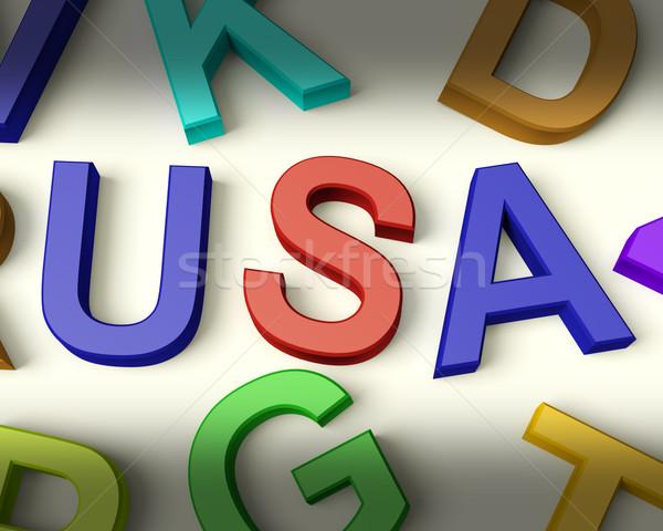 Foto d'archivio: USA · scritto · plastica · ragazzi · lettere · multicolore