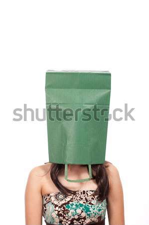 Ashamed Girl With A Bag On Her Head Stock photo © stuartmiles