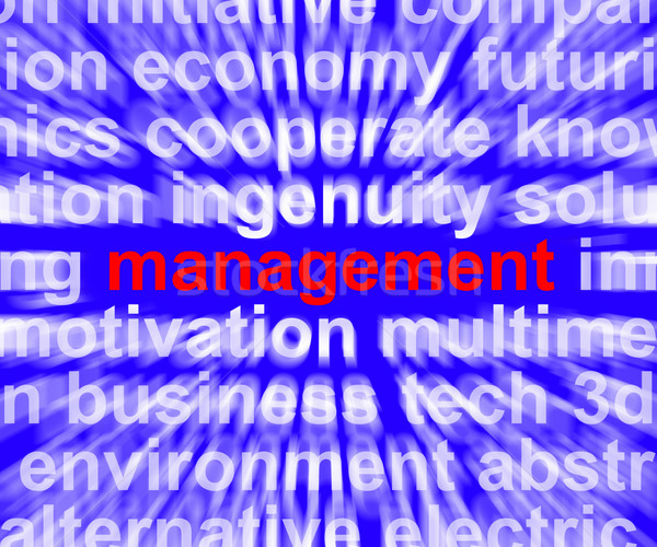 Management Word Showing Business Leadership Logistics And Organi Stock photo © stuartmiles