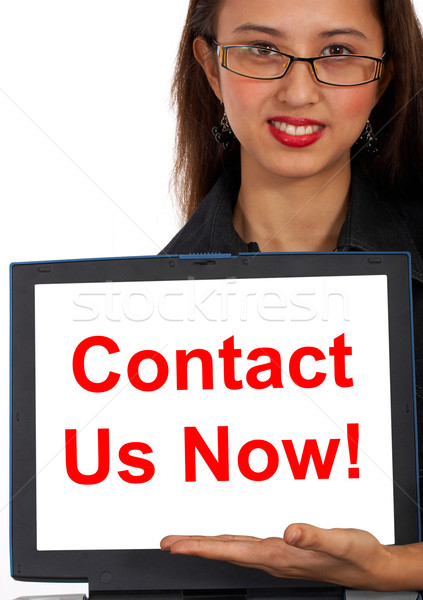Contact Us Now Computer Message Shows Emailing Stock photo © stuartmiles