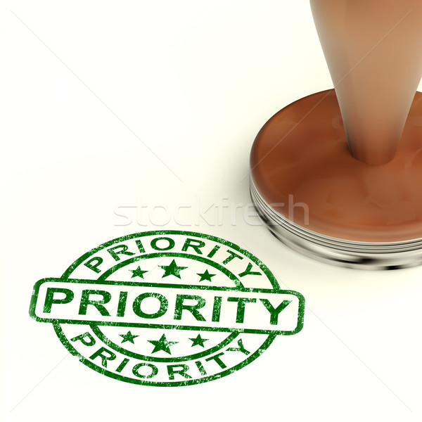 Priority Stamp Showing Rush And Urgent Services Stock photo © stuartmiles