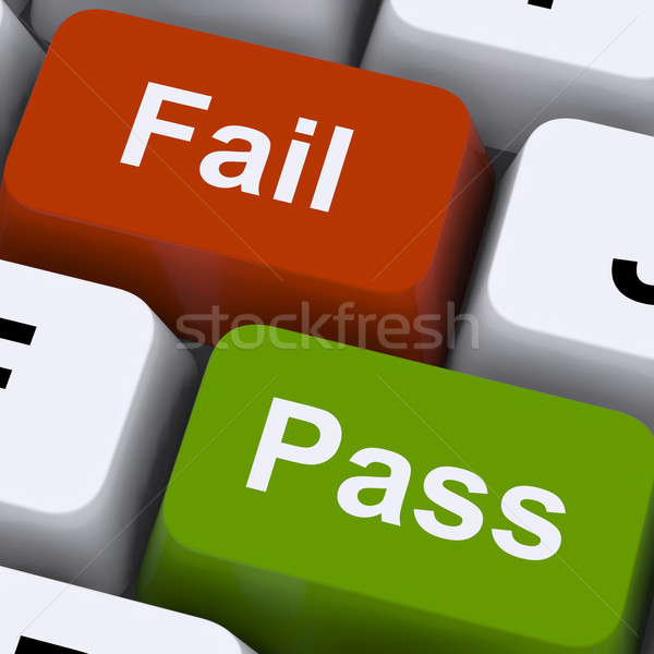 Pass Or Fail Keys To Show Exam Or Test Result Stock photo © stuartmiles