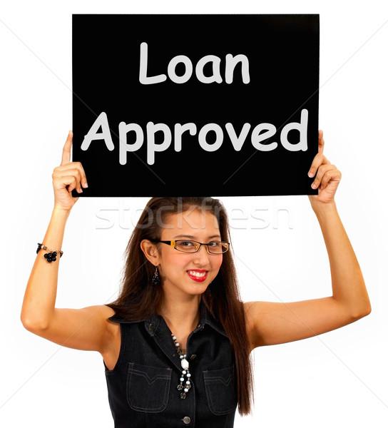 заем знак кредитных соглашение вызывать Сток-фото © stuartmiles