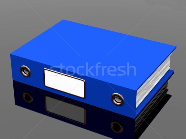 Niebieski pliku biuro zorganizowany papieru Zdjęcia stock © stuartmiles