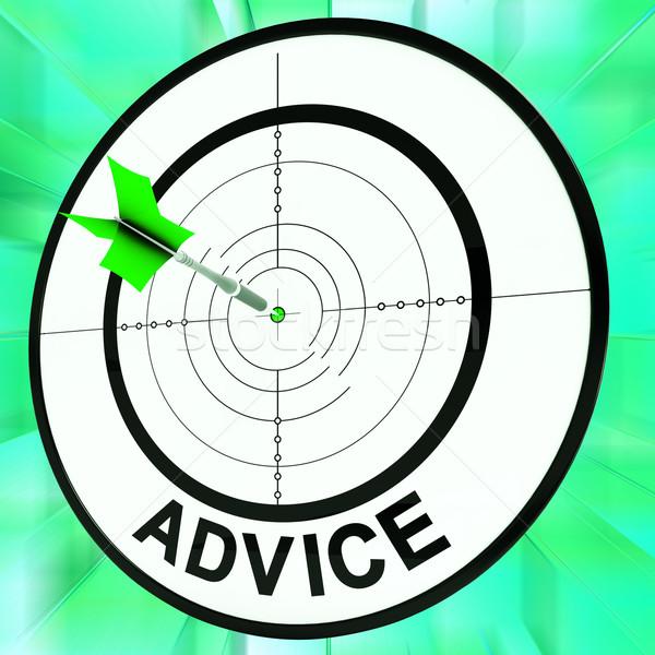 Consiglio target informazioni faq Foto d'archivio © stuartmiles