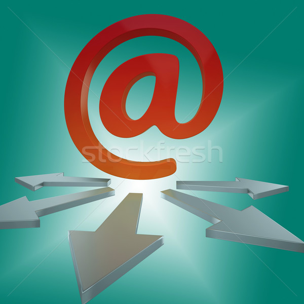 Email Arrows Shows Online Letters To Customers Stock photo © stuartmiles