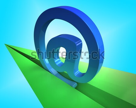 Email Icon Shows Emailing Correspondence Or Contacting Stock photo © stuartmiles