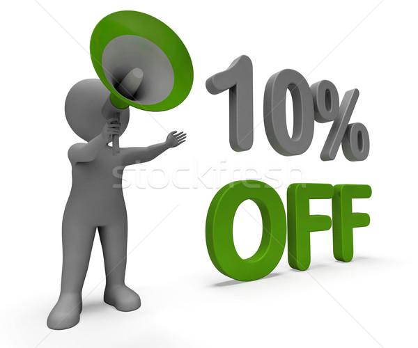 Tíz százalék el karakter ajánlat vásár Stock fotó © stuartmiles