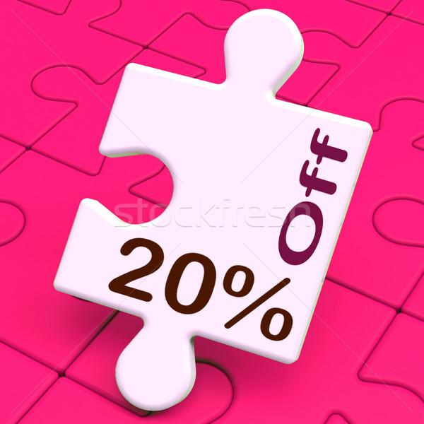 Vinte por cento quebra-cabeça desconto venda Foto stock © stuartmiles