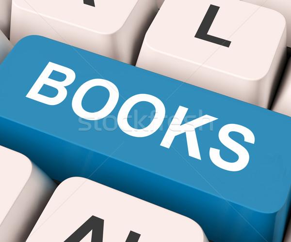 Books Key Means Novel Or Magazine Stock photo © stuartmiles