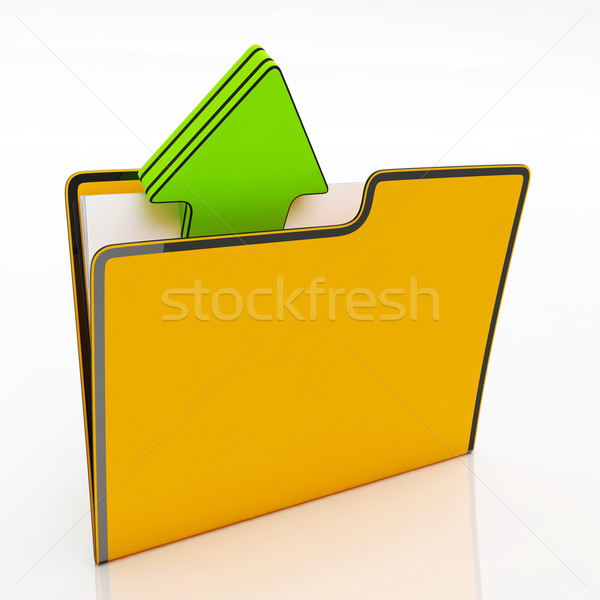 File Shows Organizing And Paperwork Stock photo © stuartmiles